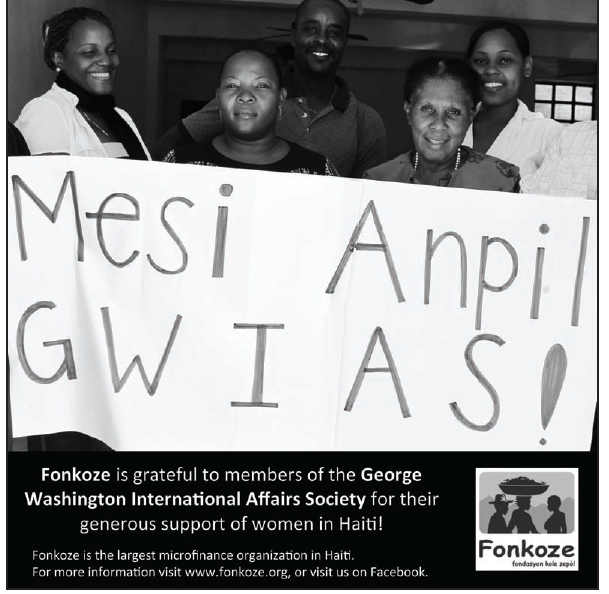 Fonkoze Expresses Appreciation to GW International Affairs Society
