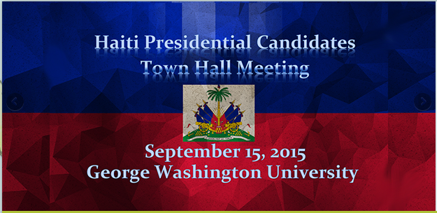 Haiti Presidential Candidates Town Hall Meeting